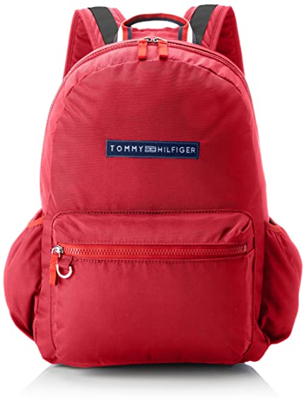 Tommy Hilfiger Basic Nylon Backpack Unisex Kids Rot Jazzy
