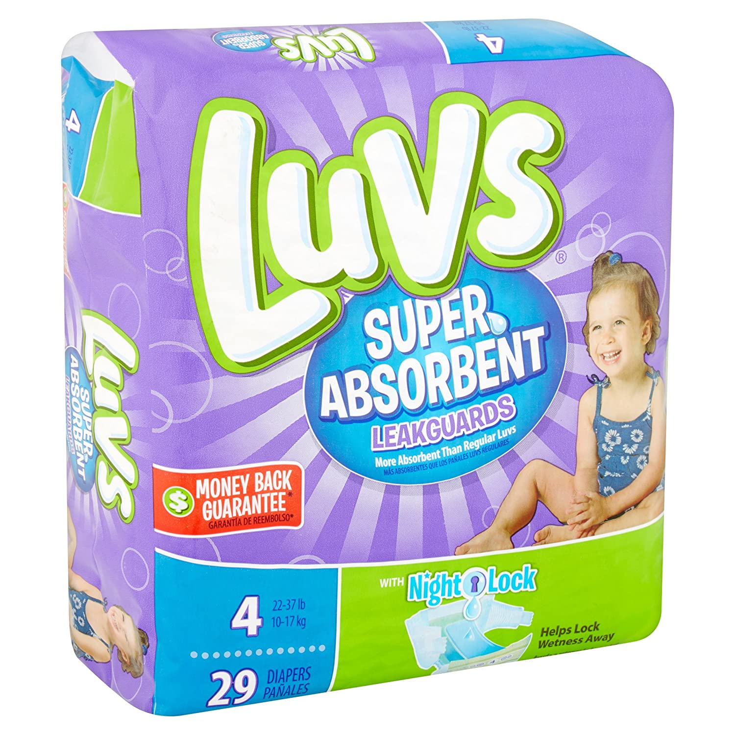 Amazon.com: Branded Luvs Super Absorbent Leakguards Diapers, Size 4, 29 Diapers , Weight 22-37lbs - Branded Diapers with fast delivery (Soft and Comfortable ...