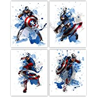 Captain America Wall Decor Collection - The First Avenger in our Wall Art Movie Poster Print Series - Set of 4 8x10…
