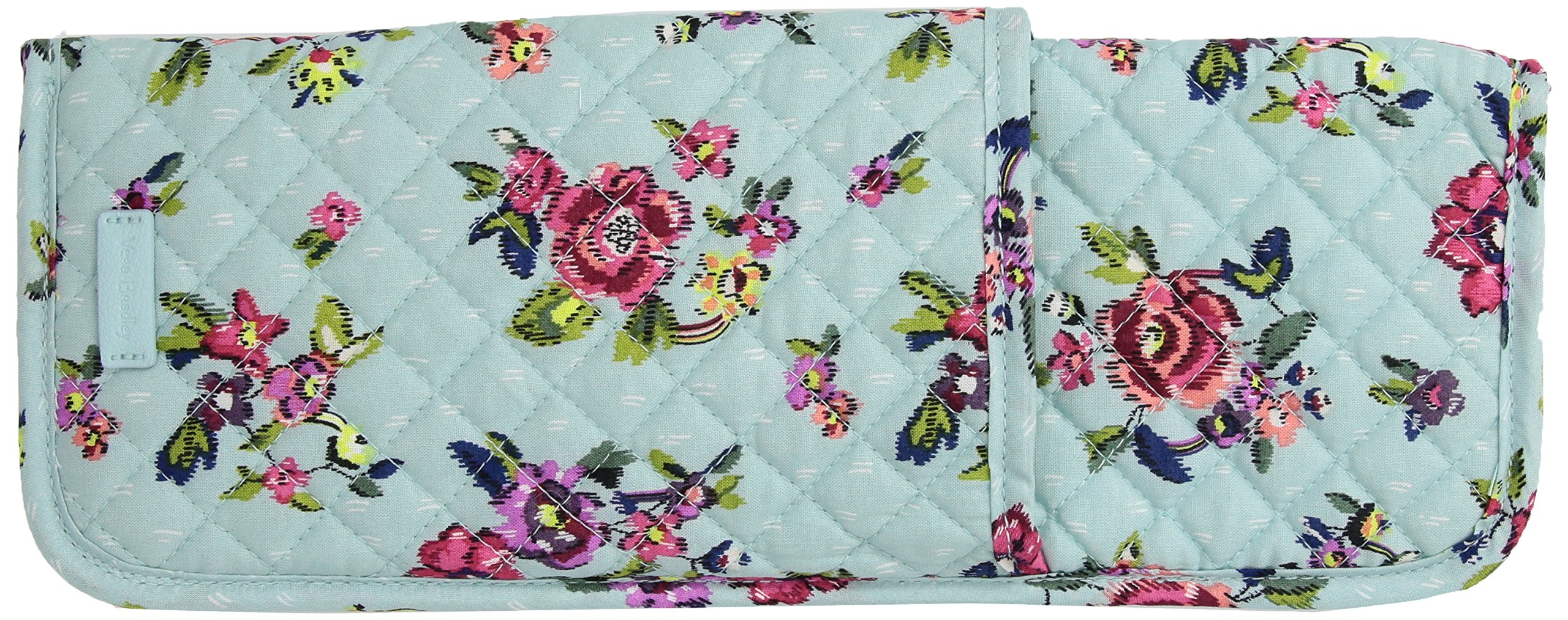 Vera Bradley Iconic Curling and Flat Iron Cover, Signature Cotton, Water Bouquet