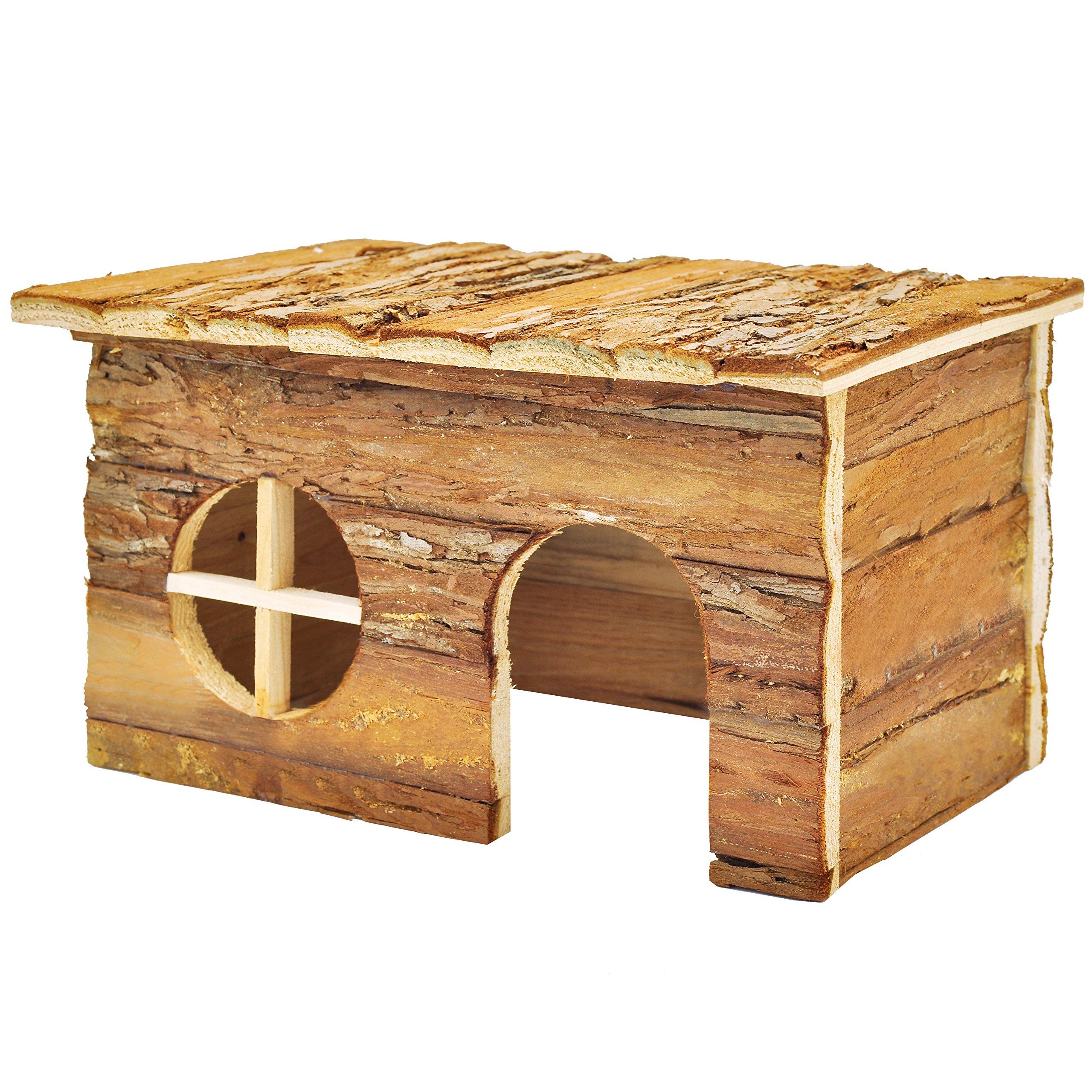Niteangel Natural Wooden Houses (11'' x 7.1'' x 6.3'')