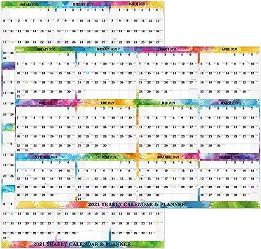 Amazon.: 2021 Erasable Wall Calendar   Dry Erase Calendar, 2