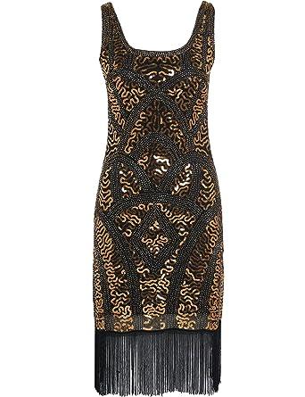Kleider schwarz mit gold