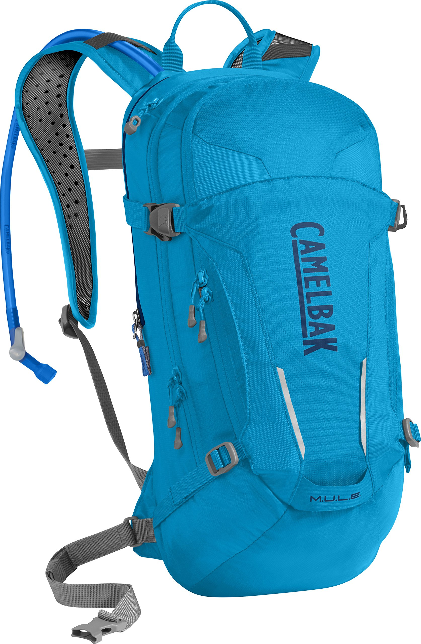 CamelBak M.U.L.E. Crux Reservoir Hydration Pack, Atomic Blue/Pitch Blue, 3 L/100 oz by CamelBak