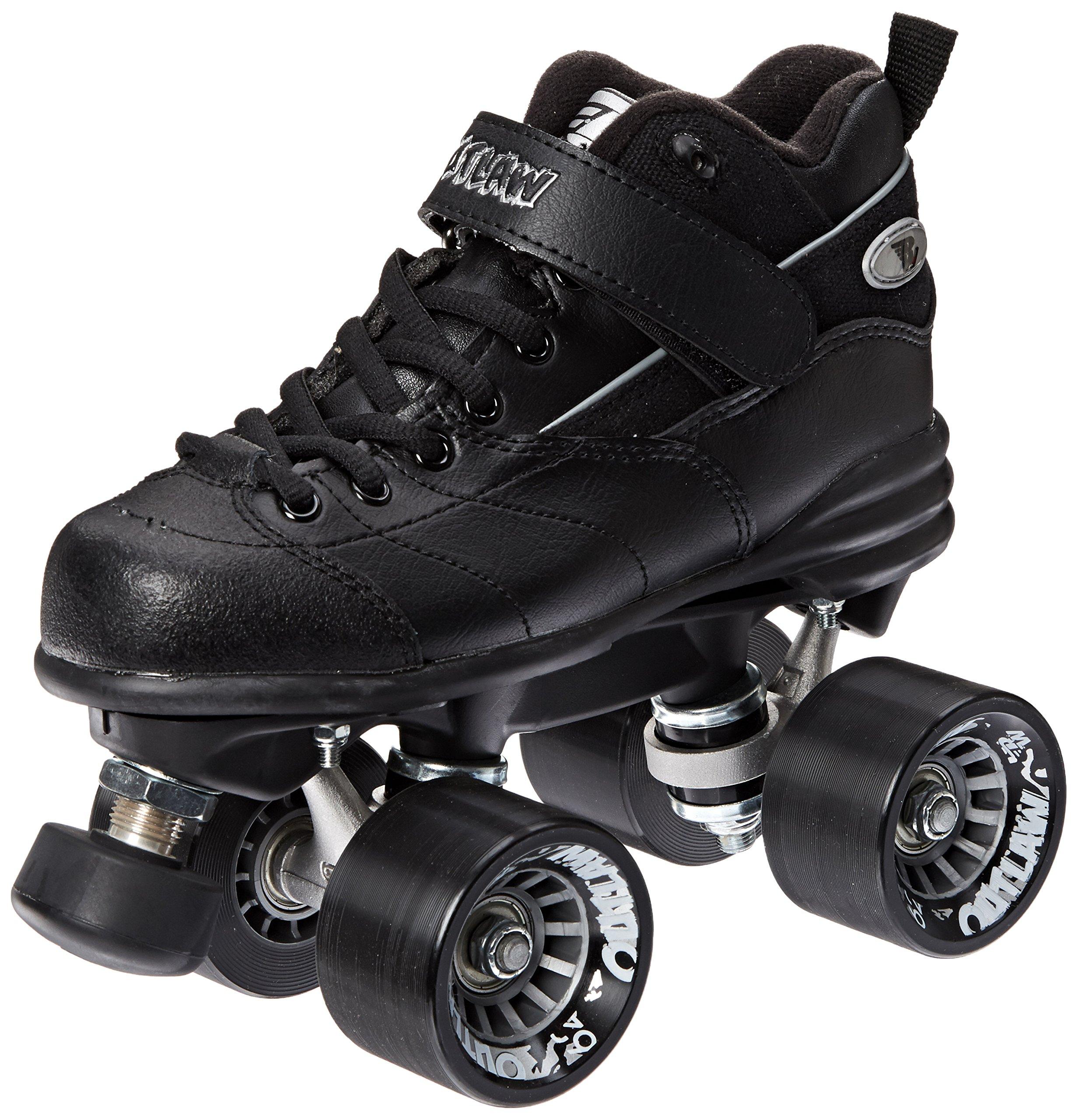 Riedell Skates Outlaw Roller Skate,Black,3 by Riedell