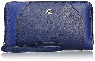 Piquadro Porte-monnaie femmeBleuBleu (Blu BLU), 3x10x17 cm (W x H x L) EU
