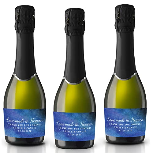 Amazon.com: Labels for Small Champagne Bottles by LoveAtEverySight ...