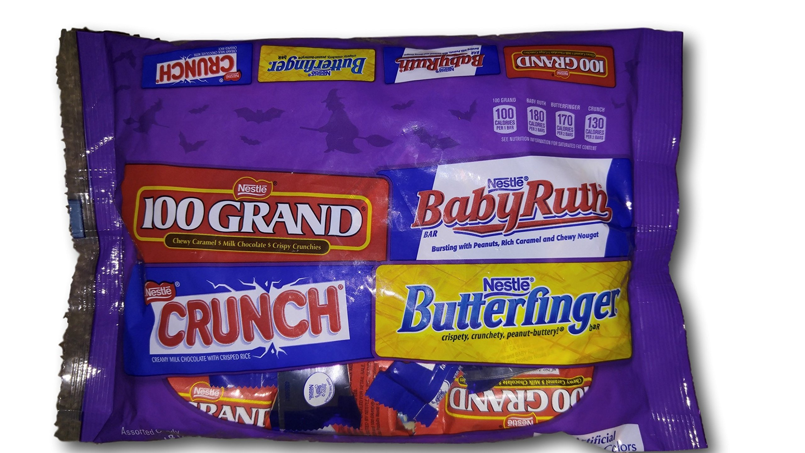 Nestle Assorted 100 Grand, Baby Ruth, Crunch, and Butterfinger Chocolate Bag - 1 Pound