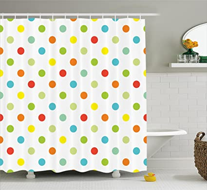 Ambesonne Polka Dots Home Decor Collection Popular With Different Colored Romantic Details Diagonal