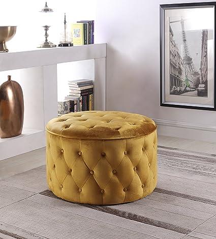 sale retailer 4c30d 2cd55 Amazon.com: Chic Home Batya Ottoman Button Tufted Velvet ...
