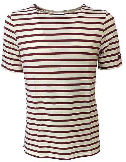 on sale 8433d 0f2dd SAINT-JAMES Men's t-Shirt mod Levant Moderne Ecru/peran 100 ...