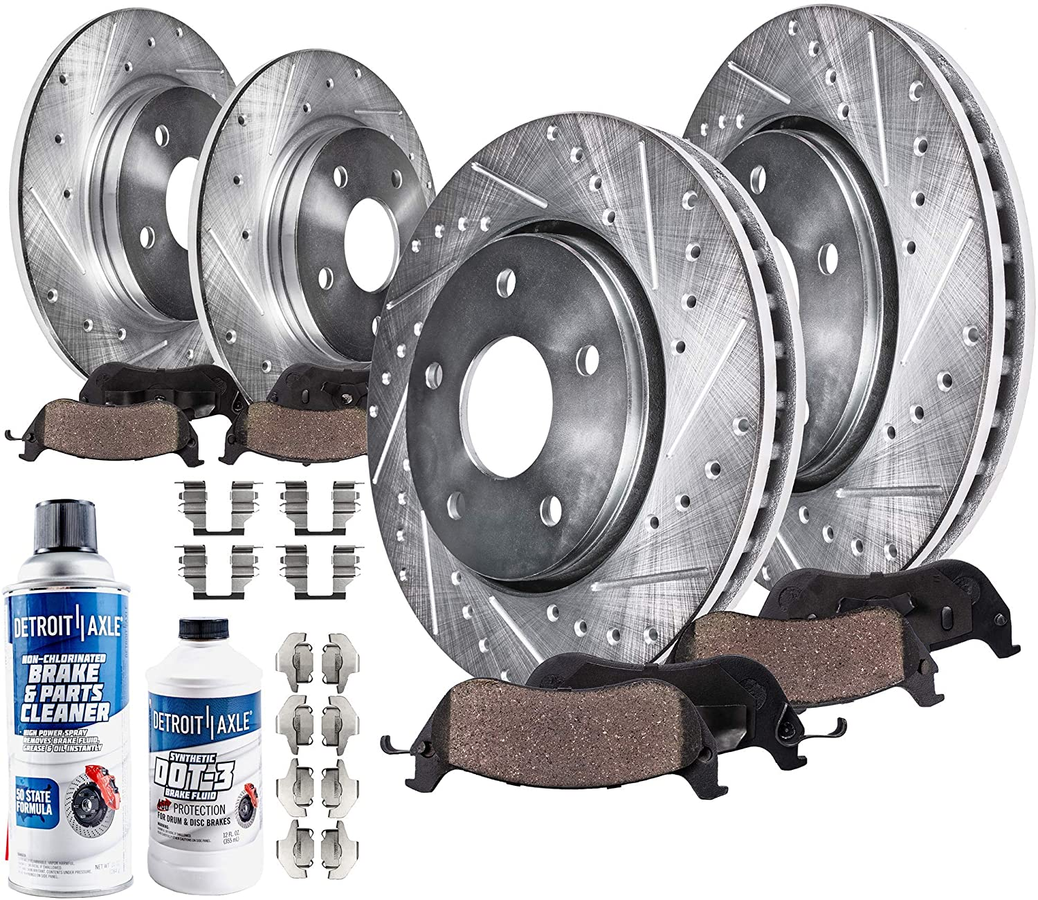OE Replacement Rotors w//Metallic Pads F+R 12 13 Fit Dodge Journey See Desc.