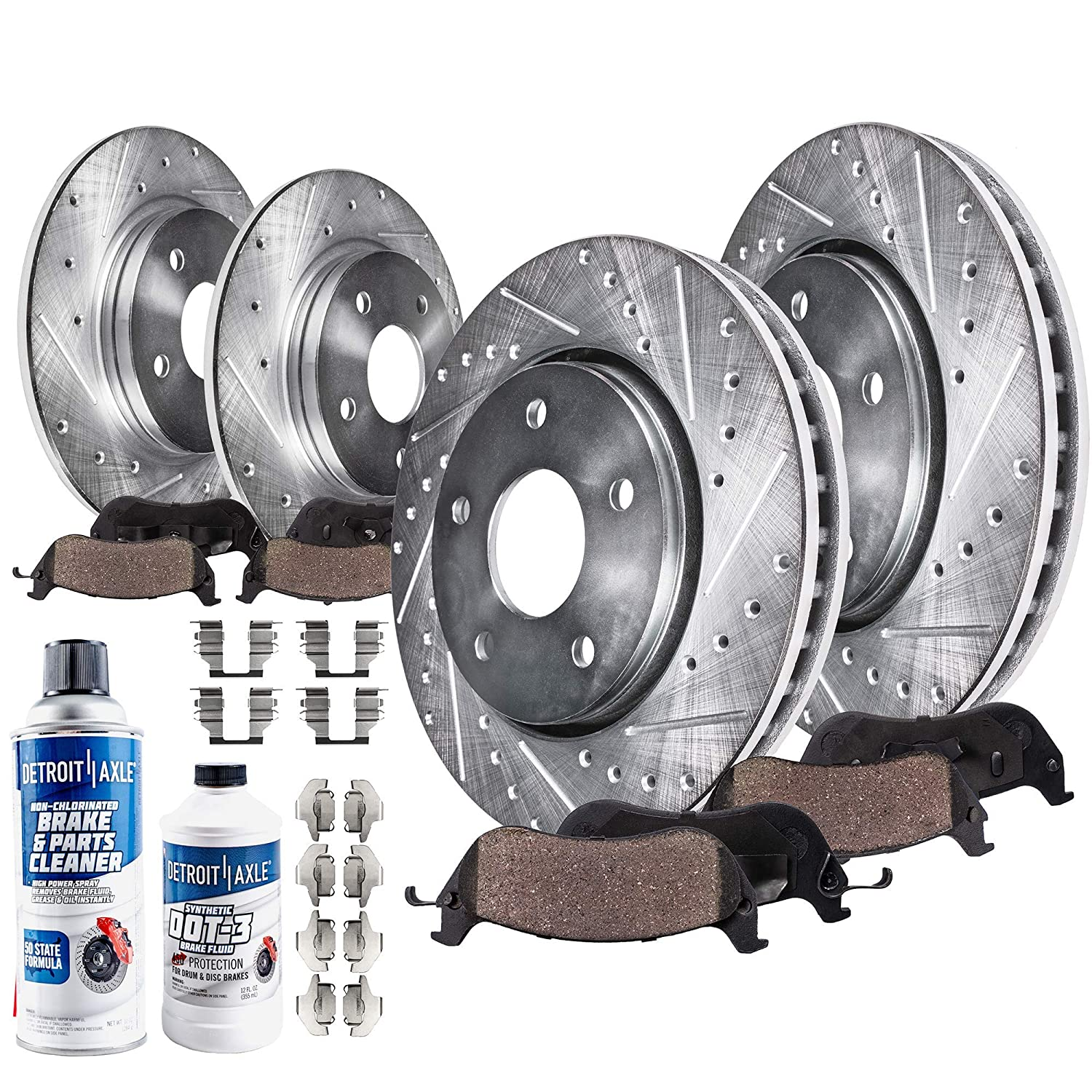 2003 2004 for Toyota Camry Front /& Rear Brake Rotors and Pads