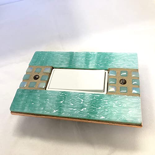 Amazoncom Green Switch Plate Teal Stained Glass Light Switch