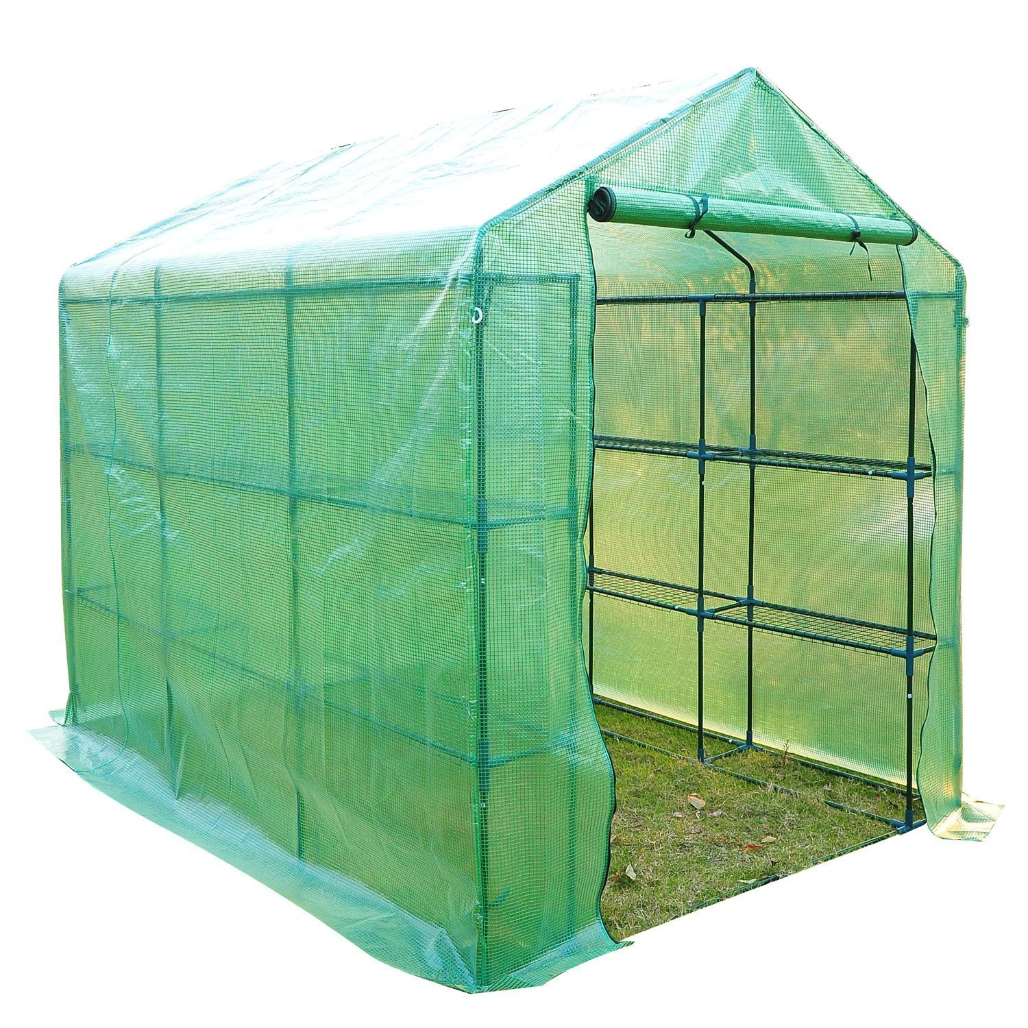 Outsunny 8' x 6' x 7' Outdoor Portable Walk-in Greenhouse by Outsunny (Image #1)