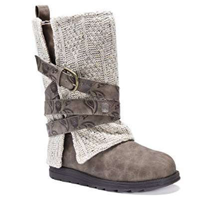 ce2b7aebeb Amazon.com | Muk Luks Women's Nikki Belt Wrapped Boot | Ankle & Bootie