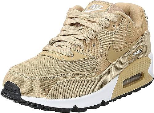 Inmigración diagonal Inútil  Nike Air MAX 90 Leather_921304-200 Zapatillas para Mujer, Parachute Beige/Black,  6.5: Amazon.com.mx: Ropa, Zapatos y Accesorios