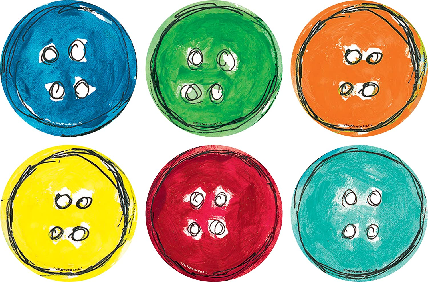 Edupress Spot On Carpet Markers: Pete The Cat Groovy Buttons - 4, EP62013