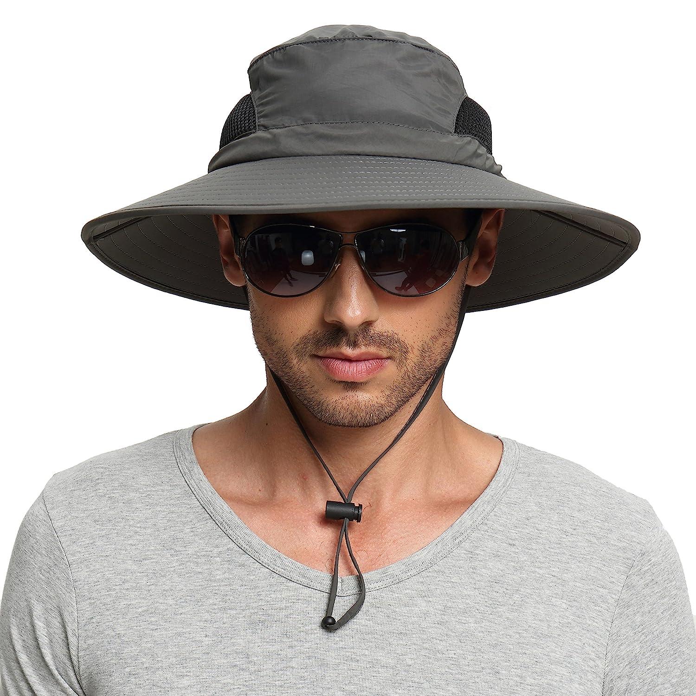 EINSKEY Chapeau Soleil Homme Femme Pliable Ete Anti UV Outdoor Bucket Hat /Étanche Chapeau de Voyage Safari Casquette