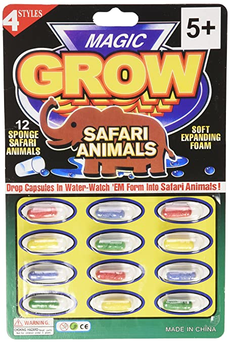 Magic Animal Growing Capsules 12 Pc by Rhode Island Novelty