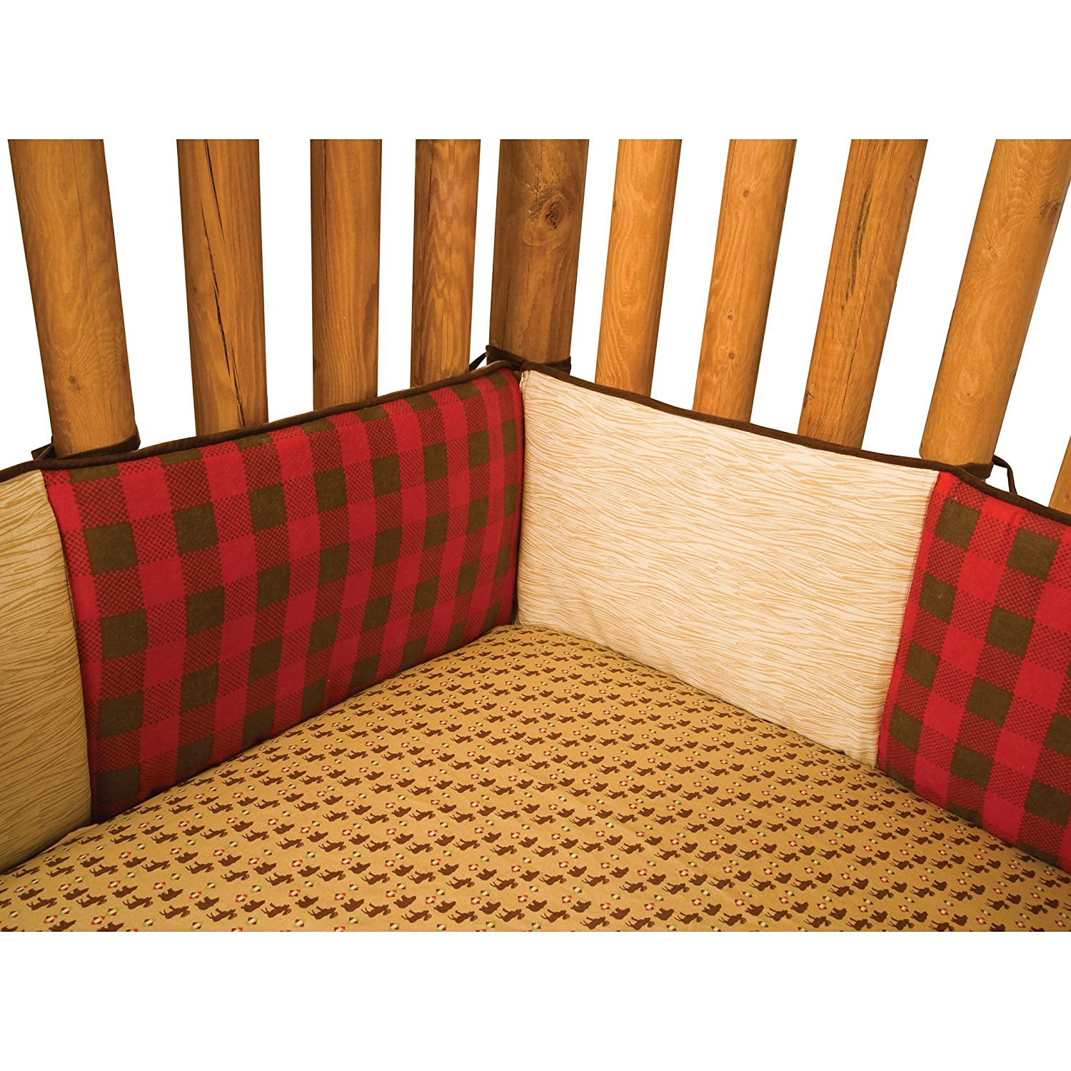 Trend Lab Northwoods Crib Bumpers, Red/Tan 110241
