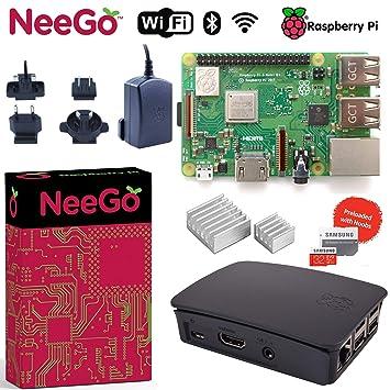 Amazon.com: Neego Raspberry Pi 3 B+ (B Plus) Kit de ...