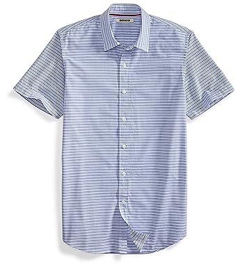 1120edde6b274f Goodthreads Men's Short-Sleeve Horizontal Stripe Shirt, Blue/White, Small