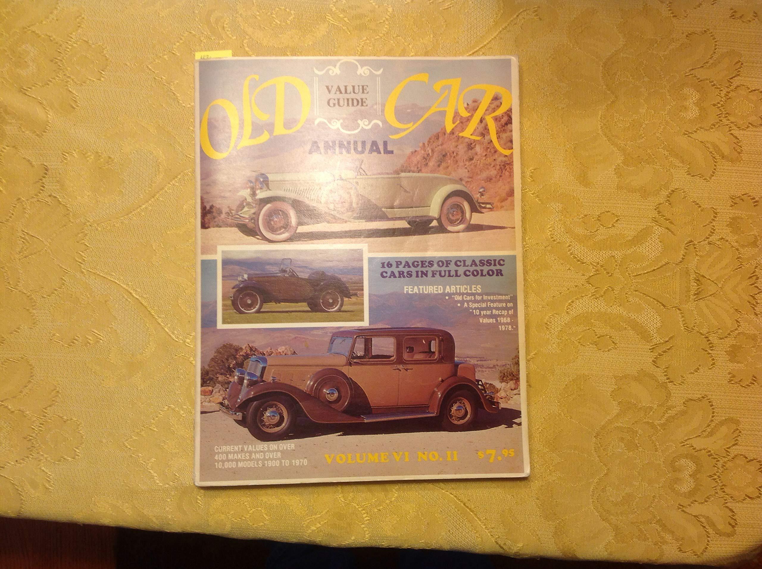Old Car Values >> Old Car Value Guide Volume Vi No 11 Amazon Com Books