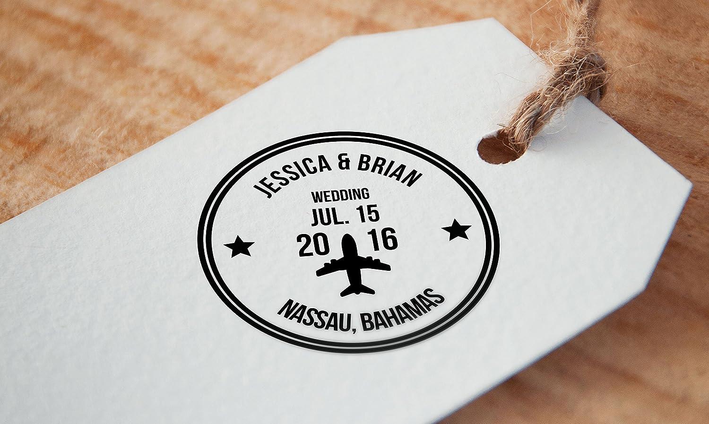 Amazon.com: Custom Wedding Stamp, Save The Date Stamp, Passport ...