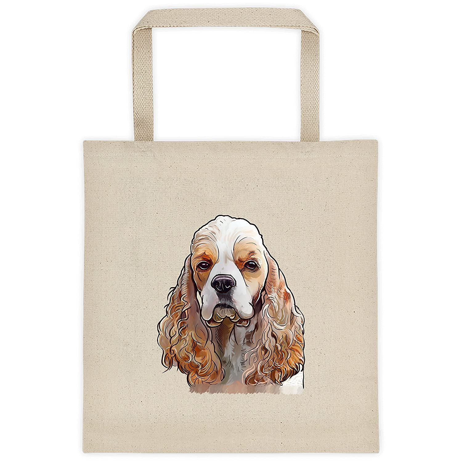 ae8df827fa16 American Cocker Spaniel Dog Portrait Color Design Extra Large Eco Friendly  Reusable Cotton Canvas Grocery Shopping Tote Bag