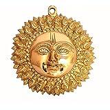 "StonKraft Ideal Gift - Beautiful Sun (Surya) Face Murti Idol Statue Sculpture Wall Hanging of Brass (6.25"")"