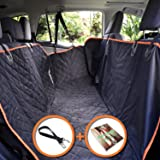 PETerials Car Dog Seat Cover, Hammock & Protector - Comfortable, Waterproof & Rip-Resistant Material - Heavy Duty & Durable With Extra Side Flaps & Zippers - Ideal Present For All Dog Lovers & Owners