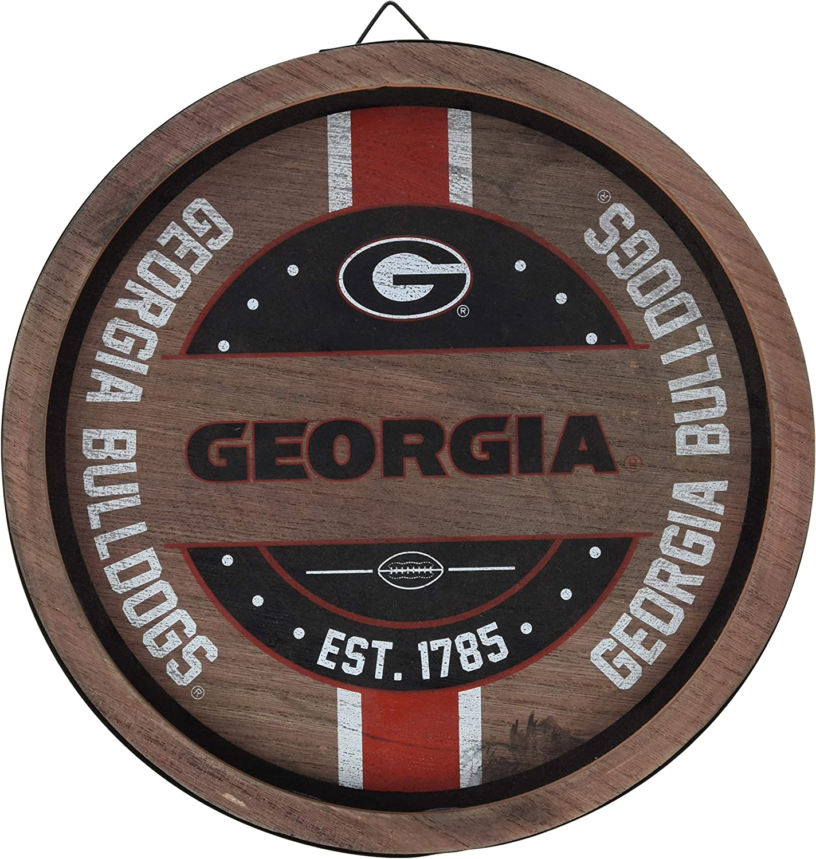 FOCO NCAA Wooden Barrel Sign