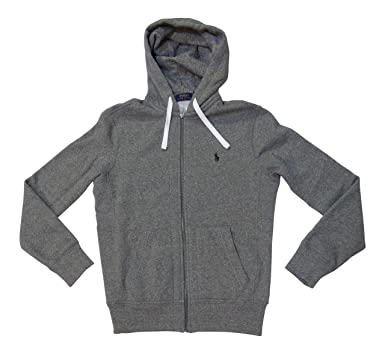 Polo Ralph Lauren Classic Full-Zip Fleece Hooded Sweatshirt,,Alaskan Heather/Green