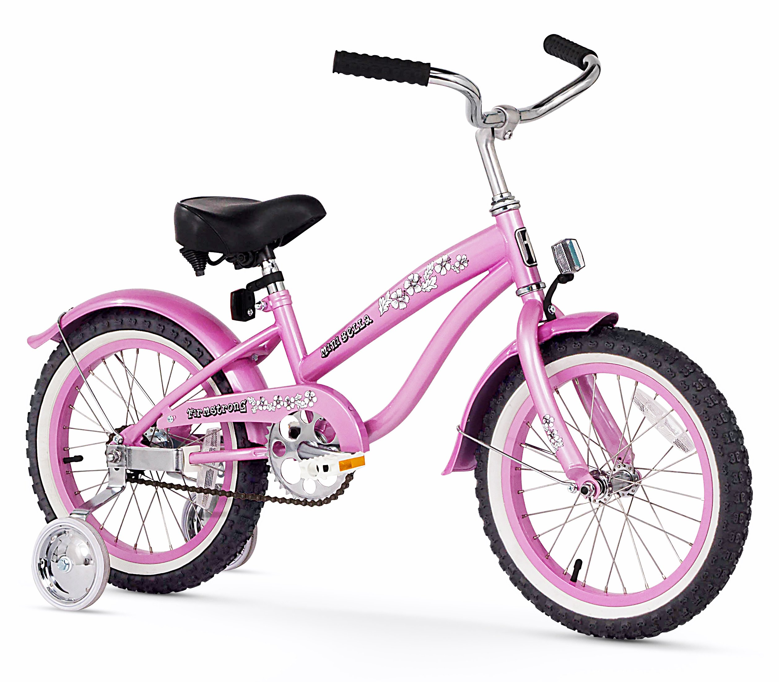 Firmstrong Girl's Bella Bicycle with Training Wheels (16-Inch, Pink) by Firmstrong