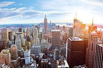 Papier peint de new york à l horizon décoration de peinture murale