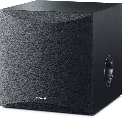 Yamaha 8in 100W Powered Subwoofer – Black NS-SW050BL Renewed