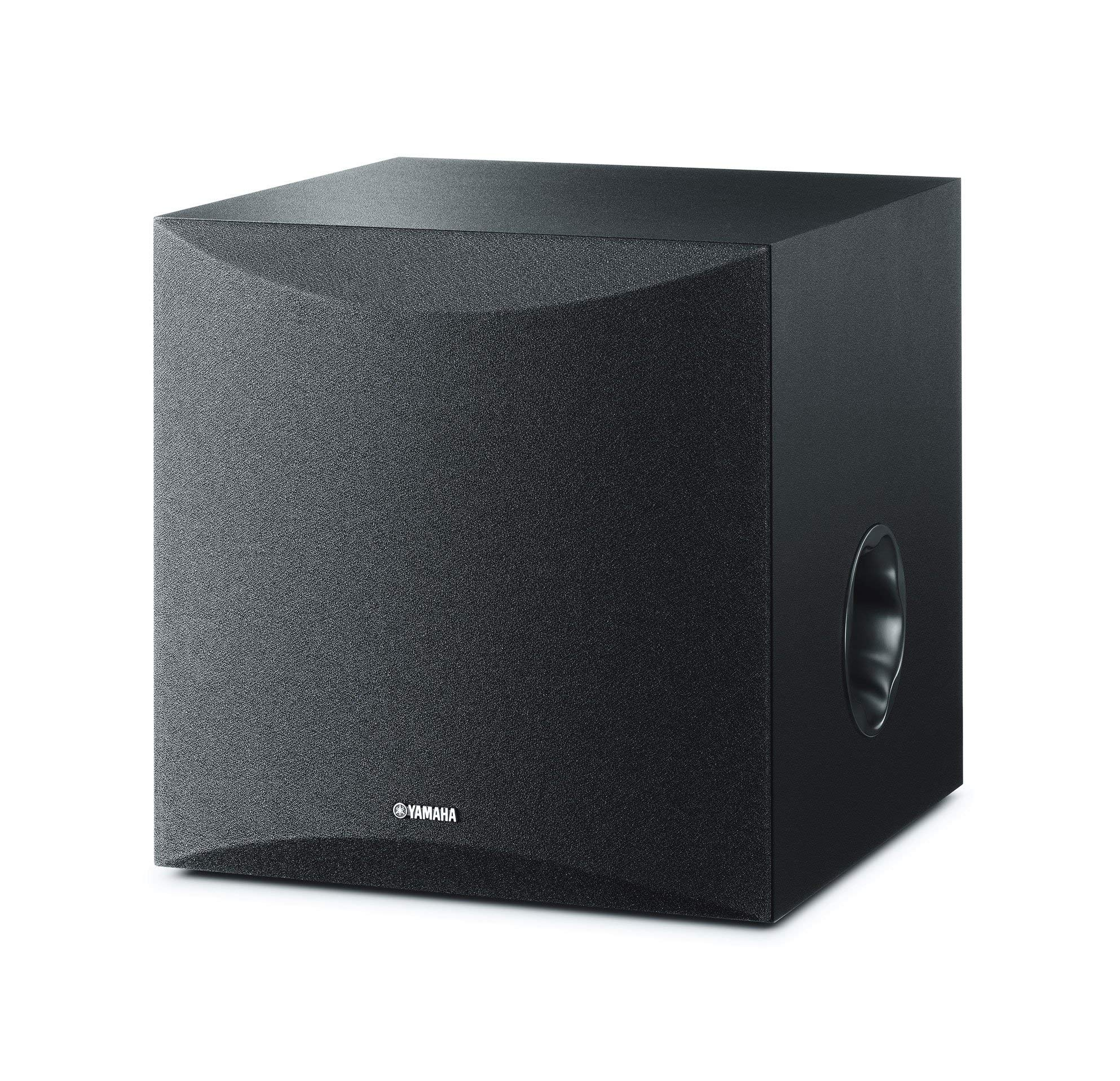 Yamaha 8in 100W Powered Subwoofer - Black (NS-SW050BL) (Renewed) by Yamaha Audio