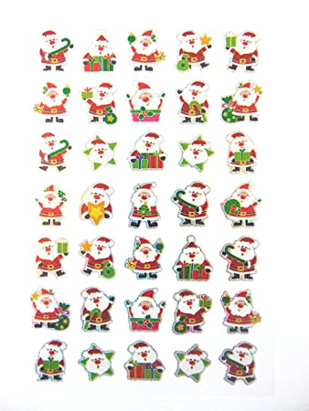 minilabel xmas santa stickers kids childrens father christmas