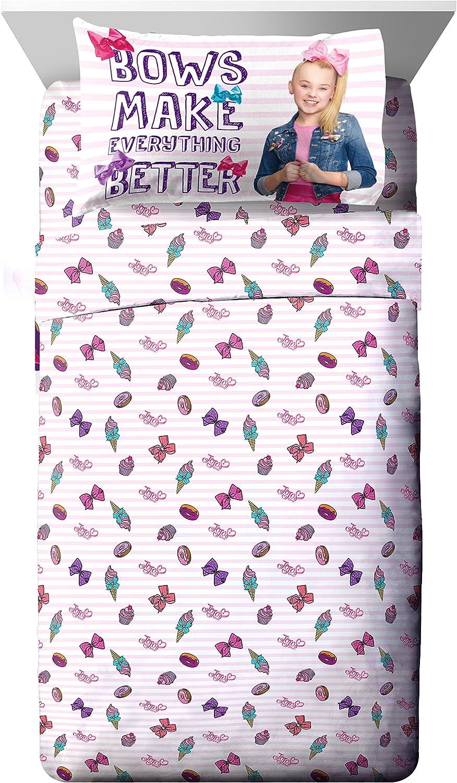 Nickelodeon JoJo Siwa Sweet Life Pink/White 4 Piece Full Sheet Set