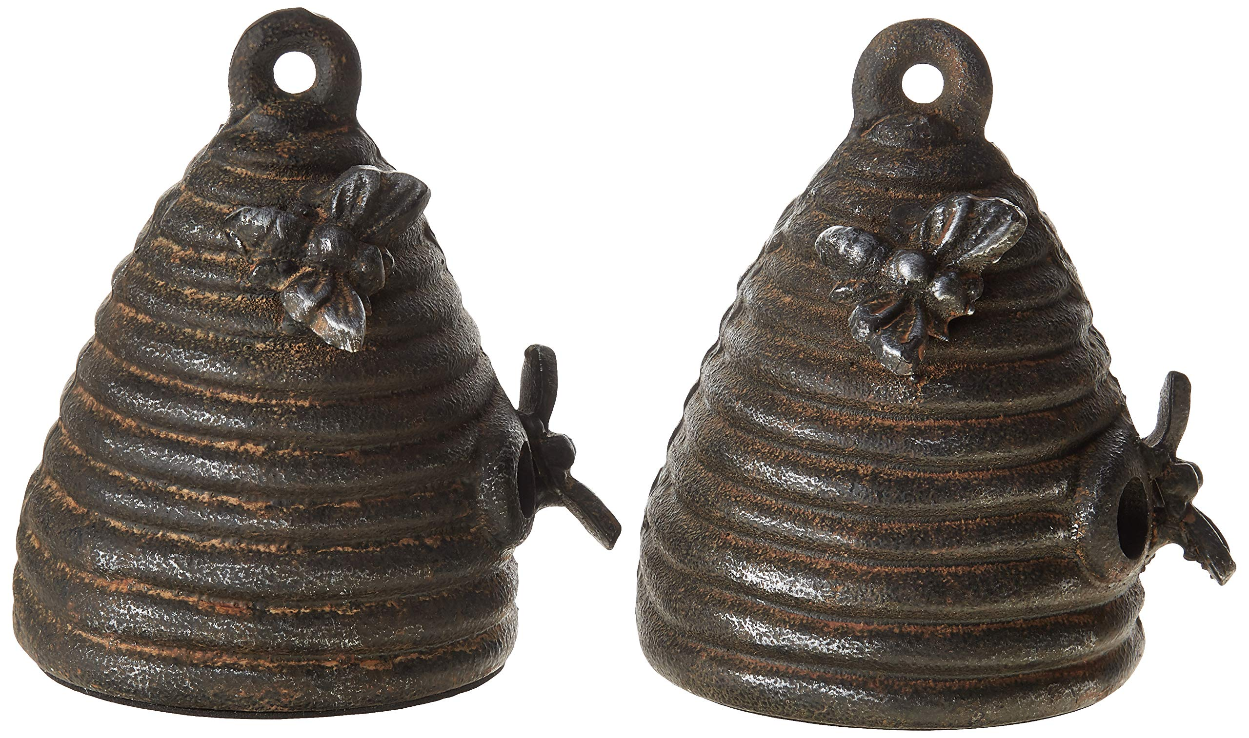 Creative Co-op Cast Iron Beehive (Set of 2 Pieces) Bookends, Black by Creative Co-op
