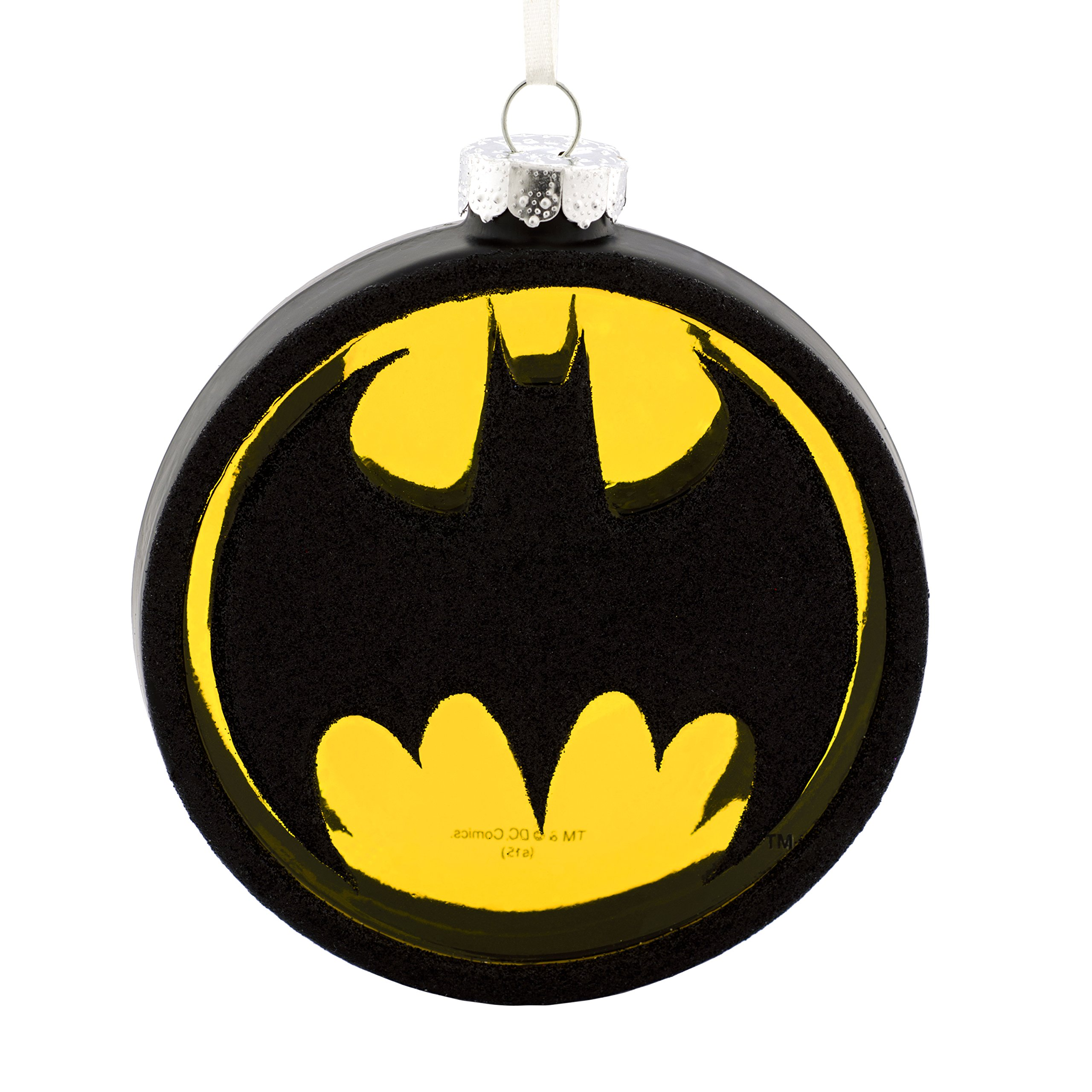 Hallmark DC Comics Batman Bat-Signal Blown Glass Christmas Ornament