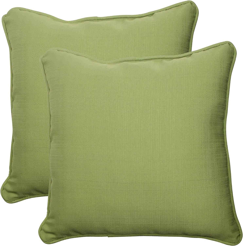 Amazon Com Pillow Perfect Outdoor Indoor Forsyth Kiwi Throw Pillows 18 5 X 18 5 Green 2 Count Home Kitchen