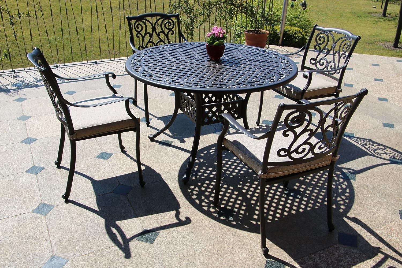 Gartentisch Rund Aluguss : Tisch Rund Cm Fantastisch Inko Aluguss Tisch  Nexus Bronze Rund