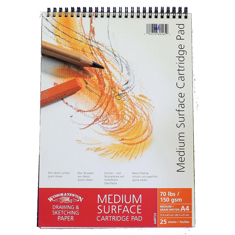Winsor /& Newton Carnet /à dessin surface m/édium /à spirales Format A2