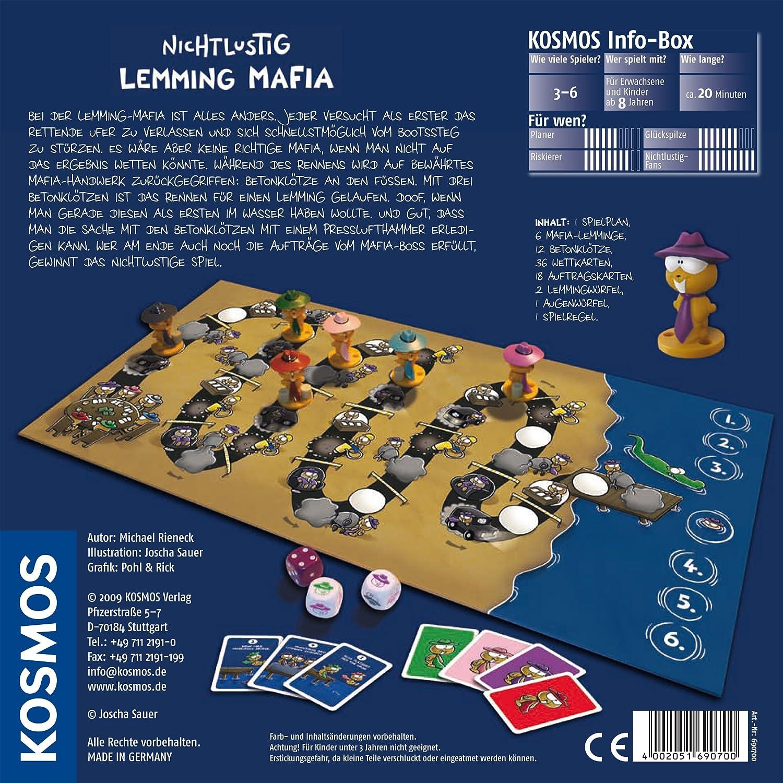 KOSMOS 6907000 NichtLustig: Lemming-Mafia - Juego de Mesa [Importado de Alemania]: Amazon.es: Juguetes y juegos