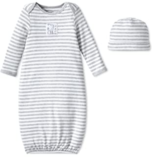 e167bbd62 Amazon.com  Burt s Bees Baby - Unisex Sleeper Gown   Hat Set
