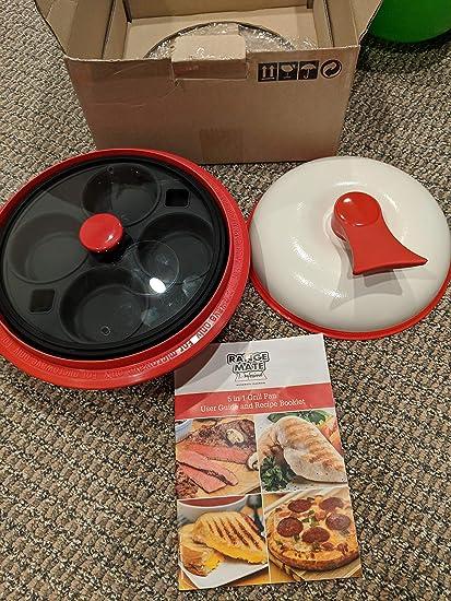 Range Mate Pro Juego de utensilios de cocina de olla/sartén antiadherente de microondas 5