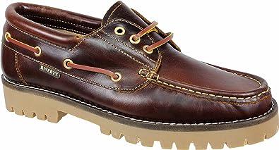 NÁUTICOS Piel MARRÓN - Hombre clásicos Fabricados en España: Amazon.es: Zapatos y complementos