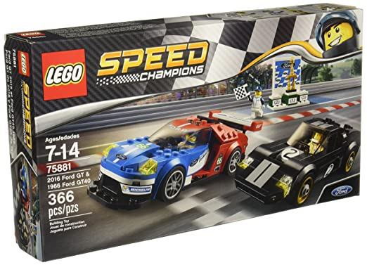 Amazon.com: LEGO 75881 2016 Ford GT & 1966 Ford GT40: Toys & Games